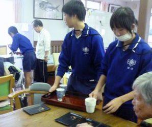 上五島中学校の体験学習~デイサービス