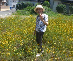 近所のお花畑へ♪1番館