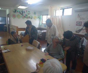 網上老人会の慰問~陽だまりの家