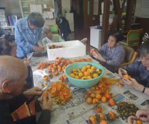 干し柿作り~デイサービス