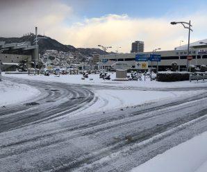 積雪でいろんな所、雪だらけ♬~長崎総務課~